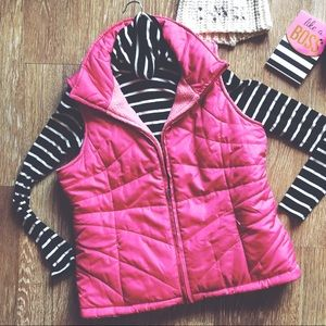 IZOD Pink Puffer Vest